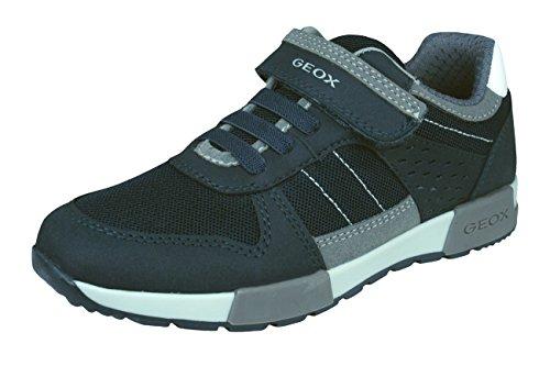 Geox Jungen J ALFIER Boy A Sneaker, Blau (Navy/Grey), 31 EU