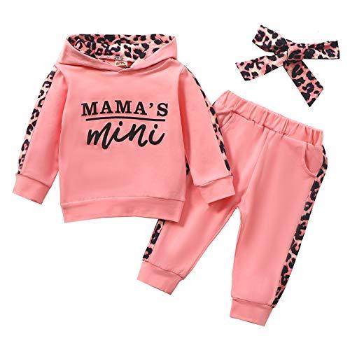 Geagodelia Babykleidung Set Baby Mädchen Kleidung Outfit Langarm Kapuzenpullover Top + Hose Neugeborene...