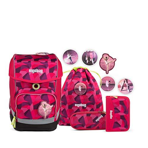 Ergobag cubo Prima Bärllerina, ergonomischer Schulrucksack, Set 5-teilig, 19 Liter, 1.100 g, pink