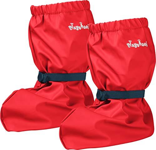 Playshoes Baby , leichte Krabbel-Schuhe für Jungen und Mädchen, mit Playshoes-Motiv, Rot (rot 8), S