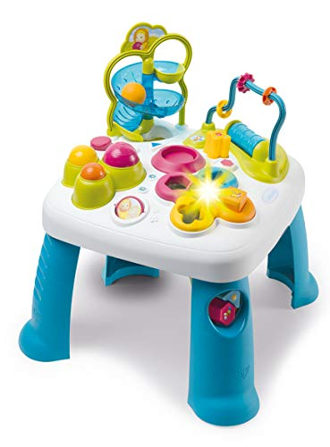 Smoby 110426 Cotoons Activity-Spieltisch, Baby, Motorikspielzeug, Kugelbahn, Steckspiel, für Kinder ab 12...