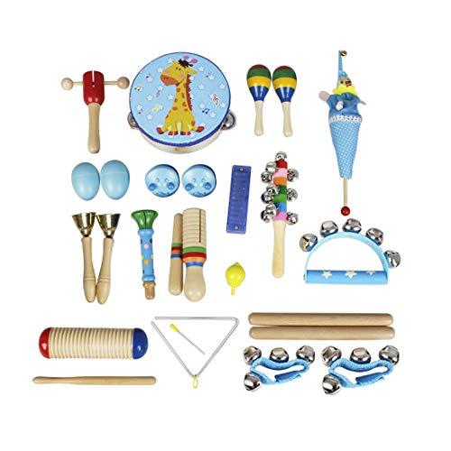 Edmend Baby-Musikinstrumente 22pcs Kleinkind-Musik-Spielzeug-Set Bildung Percussion Spielzeug-Geschenk for...