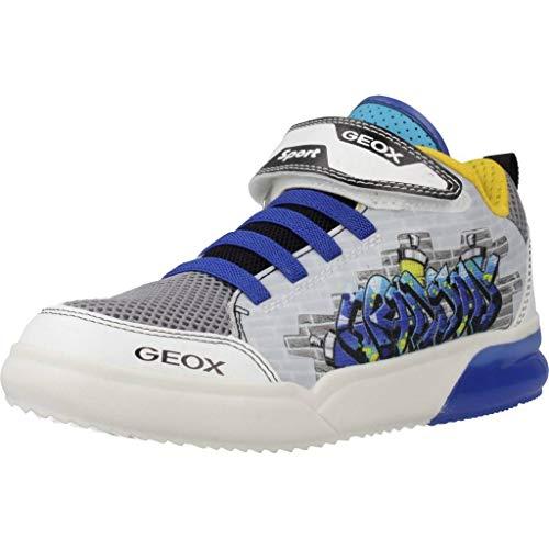 Geox Jungen J GRAYJAY Boy D Hohe Sneaker, Weiß (White/Royal C0293), 31 EU