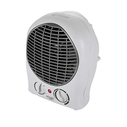 ADLER AD 7716 elektrischer Heizlüfter mit 2 Leistungsstufen 1000W / 2000W, Ventilator - kalter Luftzug,...