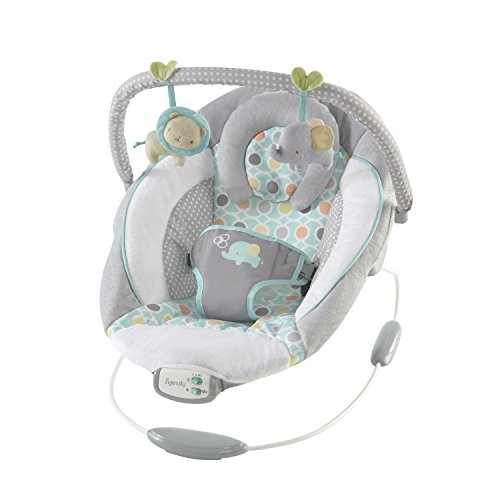 Ingenuity, vibrierende Wippe mit Musik, Lautstärkeregler, Spielzeugen, gepolsterter Kopfstütze,...