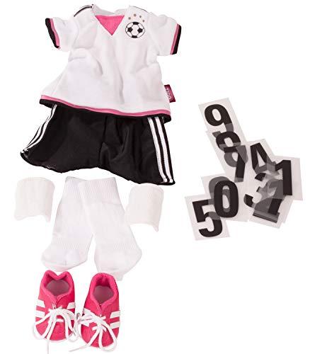 Götz 3403054 Kombination Soccer Girl - Puppenbekleidung Gr. XL - 18-teiliges Bekleidungs- und Zubehörset...