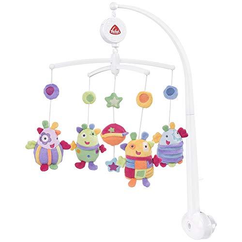 Fehn 093704 Musik Mobile Blobbs - Spieluhr-Mobile mit niedlichen Außerirdischen für Babys von 0-5 Monaten...