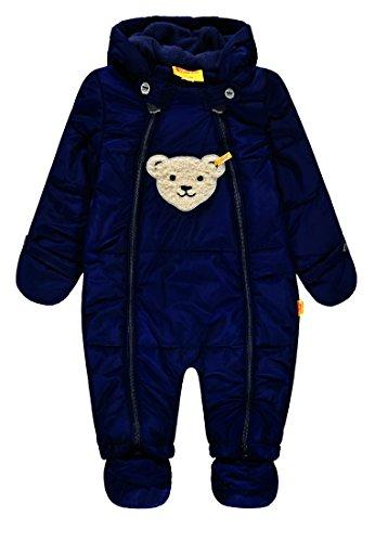 Steiff Baby-Jungen Schneeoverall Schneeanzug, Blau (Marine Blue 3032), 68