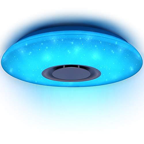 HOREVO 24W Sternenhimmel Deckenleuchte Kinderzimmer mit Fernbedienung Dimmbar Deckenlampe RGB, APP Bluetooth...