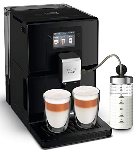 Krups EA8738 Intuition Preference Kaffeevollautomat inkl. Milchbehälter | Smartphoneähnlicher...