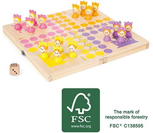 Small Foot 11105 Ludo Prinzessinnen, aus FSC 100%-zertifiziertem Holz, mit praktischer Transportbox für...