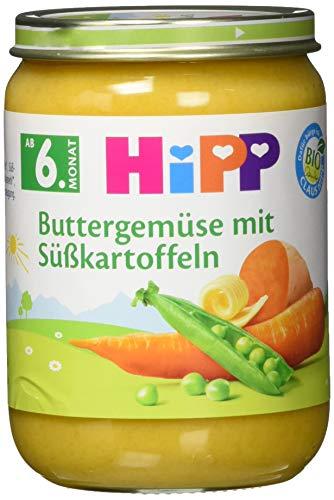 HiPP Buttergemüse mit Süßkartoffeln, 6er Pack (6 x 190 g)