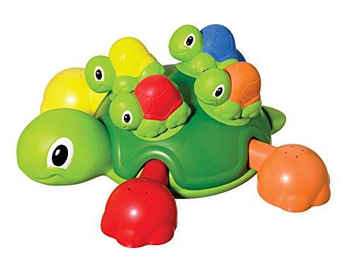 TOMY Schildkrötenfamilie, Bunter Bade- und Lernspaß für Badewanne, Pool und Schwimmbad,...