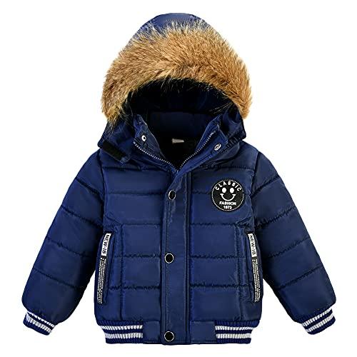 G-Kids AMIYAN Baby Junge Winter Mantel Winterjacke mit Fellkapuze Verdickte Warme Kinderjacke Parka Winter...