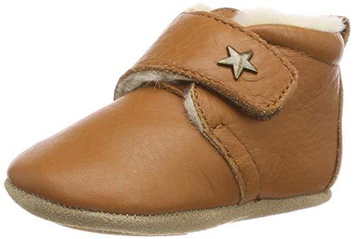 Bisgaard Unisex Kinder Wool Star Pantoffeln, Braun (66 Cognac), 21 EU