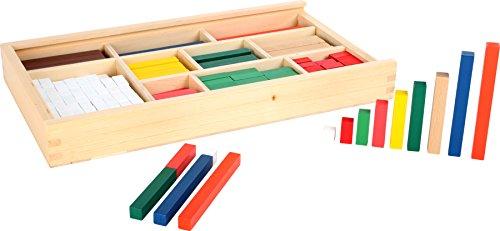 small foot 1136 Rechenstäbchen aus Holz, zum Erlernen des kleinen 1x1, 300 bunte Stäbchen in einer Box, ab 5...
