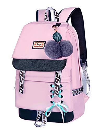 Asge Schulrucksack Mädchen Schulranzen Jungen Schultasche mit Ergonomischem Design Rucksack Campus Backpack...