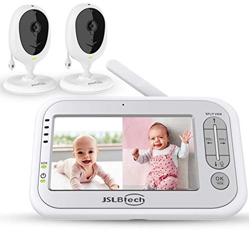 JSLBtech Video Babyphone Geteilter Bildschirm mit 2 kamera 5' LCD Bildschirm,...