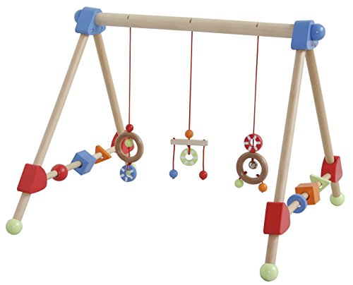 roba Spieltrapez, Aktivcenter mit höhenverstellbaren Spiel-und Greiftrainer, und Babyspielzeug aus Holz,...