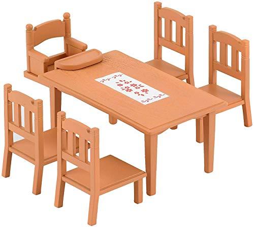 Sylvanian Families 2933 Esstisch Set, Puppenmöbel, Braun