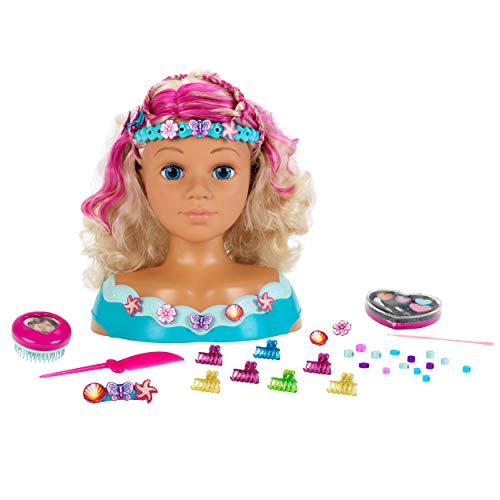 Theo Klein 5398 Princess Coralie Styling Head Mariella, Schminkkopf, Frisierkopf inklusive Kosmetik und...
