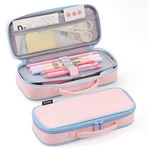 EASTHILL Federmäppchen Mäppchen mittlere Kapazität Bleistift Tasche mit Reißverschlüssen Schreibwaren...