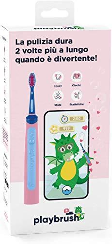 Playbrush, Smart Sonic elektrische Zahnbürste weiche Borsten geeignet für Kinder ab 3 Jahren Sonische...