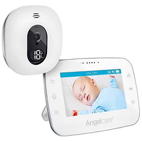 Angelcare A0310-DE0-A1011 Babyphone mit Video-Überwachung AC310-D / 4.3' Display, weiß