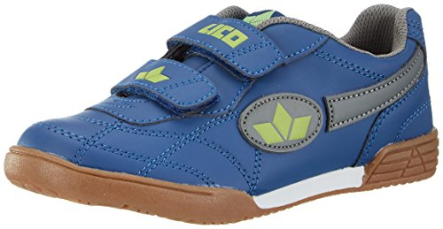 Lico Unisex Kinder Bernie V Hallenschuhe, Blau (Marine/GRAU/Lemon), 34 EU