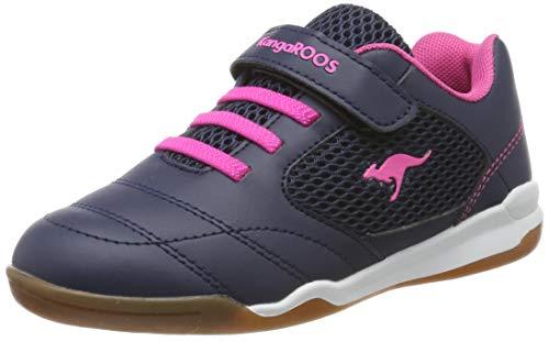 KangaROOS Unisex-Kinder Incourt EV Sneaker, Blau (Dk Navy/Daisy Pink 4204), 35 EU