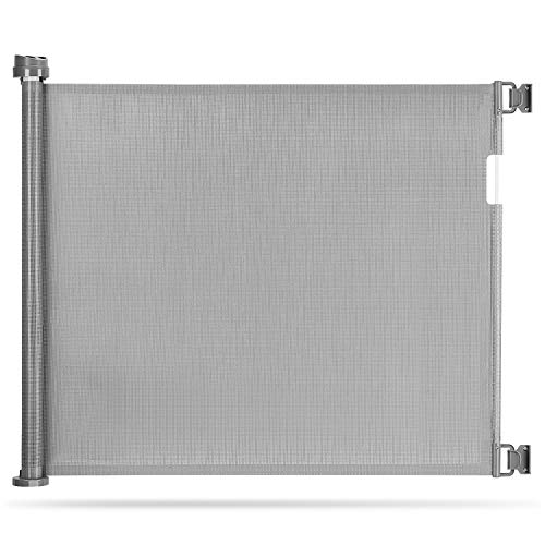 Momcozy Türschutzgitter Treppenschutzgitter Roll, 0-140cm Einziehbares Tür- und Treppenschutzgitter für...