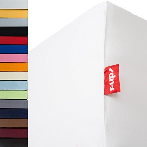 r-up Beste Spannbettlaken Doppelpack 90x200-100x220 bis 35cm Höhe viele Farben 95% Baumwolle / 5% Elastan...