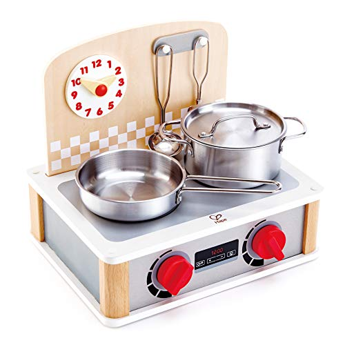 Hape E3151 2-in-1 Küchen-& Grill-Set, Weiß