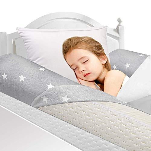 HBselect 2 Pcs Bettgitter Memory Schaumgummi mit 2 abziebaren Anzüge für Kleinkind Baby Kinder voll weich...