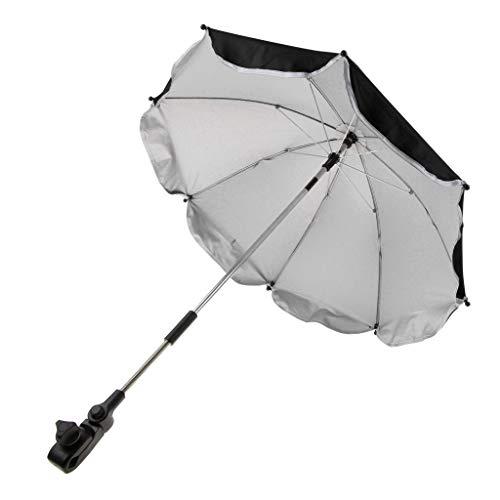 D DOLITY Kinder Baby Sonnenschirm Regenschirm Schirm Für Kinderwagen Buggy - Schwarz, 65 cm