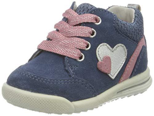 Superfit Avrile Mini Sneaker, BLAU/ROSA, 24 EU