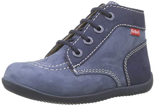 Kickers Unisex Baby Bonbon Stiefel, Blau (Bleu Denim Perm 53), 23 EU