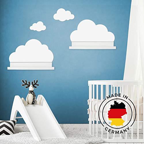 Wandtattoo Wolken in weiß für IKEA Regalbrett Ribba