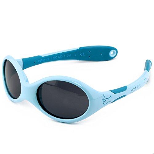 ActiveSol BABY-Sonnenbrille | JUNGEN | 100% UV 400 Schutz | polarisiert | unzerstörbar aus flexiblem Gummi |...