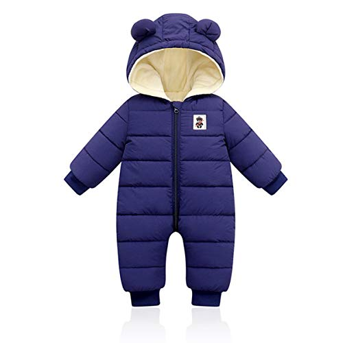 Baby Winter Overall mit Kapuze, Strampler Schneeanzug Jungen Mädchen Langarm Jumpsuit Warm Outfits Geschenk,...