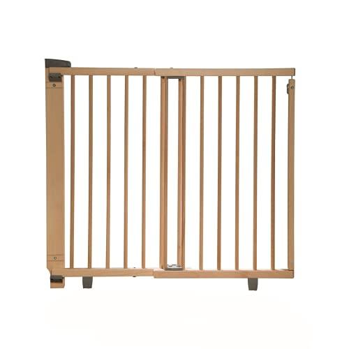 Geuther Türschutzgitter 2734+ - Türschutzgitter aus Holz in Natur Passung: 86 cm - 133 cm