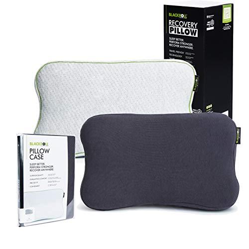 BLACKROLL Recovery Pillow im Set mit zusätzlichem Bezug in anthrazit – orthopädisches HWS Kissen mit...