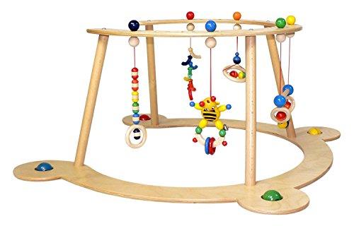 Hess Holzspielzeug 13333 - Lauflerngerät und Spielbogen aus Holz, Serie Biene, für Babys, handgefertigt, mit...