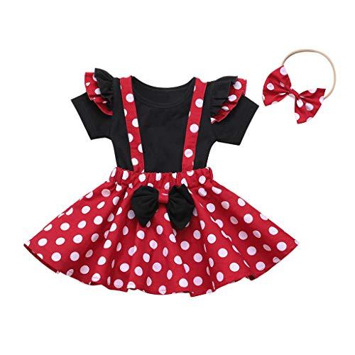 MRULIC Baby Mädchen Outfits Kleidung Bowknot Weste Tops + Plaid Shorts Hosen Sets Anzug 1-6...