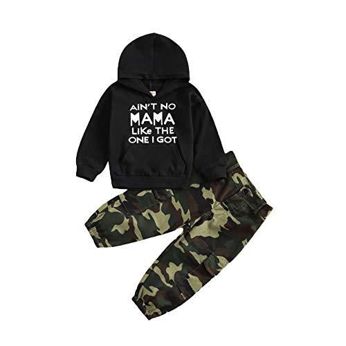 Kleinkind Baby Junge Kleidung Brief Gedruckt Hoodie Langarm Sweatshirt Camouflage Hosen Frühling Winter...