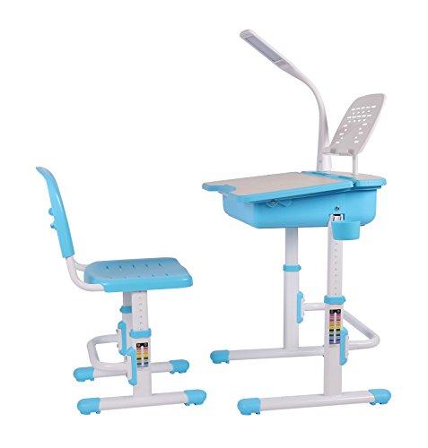 Leomark Ergonomisch SMART Kinderschreibtisch - Blaue Farbe -Schreibtisch mit Schublade und Stuhl...