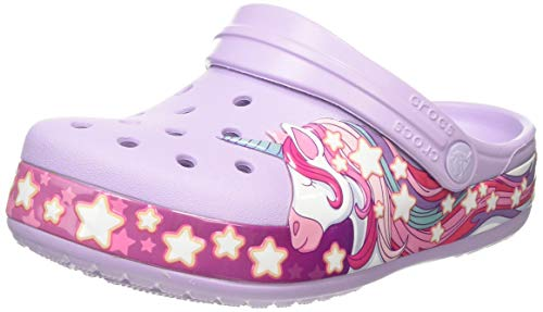 Crocs Unisex-Kinder Funlab Unicorn Band Kids Clogs, Violett (Lavender 530), 19/20 EU