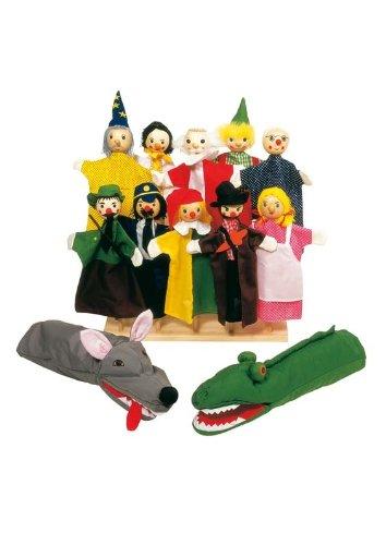 Goki Handpuppen-Sortiment: 12 Puppen für kleine und große Hände