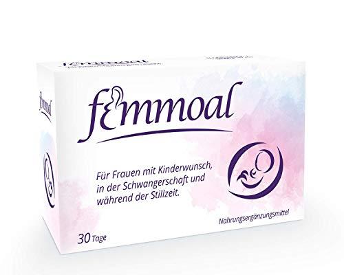 FEMMOAL PLUS Folsäure Schwangerschaft - Vitamine von Kinderwunsch bis Stillzeit - Hergestellt in Deutschland...