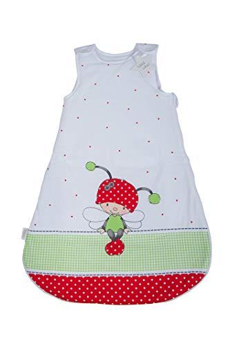 Herding Baby Best Baby-Schlafsack, Käferchen Motiv, 90 cm, Seitlich umlaufender Reißverschluss und...